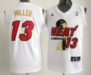 Wholesale Cheap Miami Heat #13 Mike Miller 2012 NBA Finals Champions White With Red Jersey