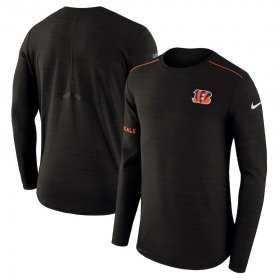 Wholesale Cheap Cincinnati Bengals Nike Sideline Player Long Sleeve Performance T-Shirt Black
