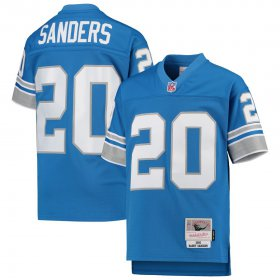 Wholesale Cheap Youth Detroit Lions #20 Barry Sanders Mitchell & Ness Blue 1996 Legacy Retired Player Jersey