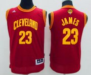 Wholesale Cheap Men's Cleveland Cavaliers #23 LeBron James Red 2017 The NBA Finals Patch Jersey