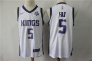 Wholesale Cheap Kings 5 De'Aaron Fox White Nike Swingman Jersey