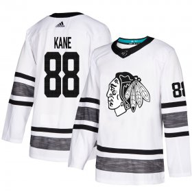 Wholesale Cheap Adidas Blackhawks #88 Patrick Kane White Authentic 2019 All-Star Stitched Youth NHL Jersey