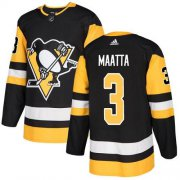 Wholesale Cheap Adidas Penguins #3 Olli Maatta Black Home Authentic Stitched Youth NHL Jersey
