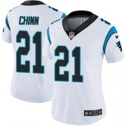 Wholesale Cheap Nike Panthers #21 Jeremy Chinn White Women's Stitched NFL Vapor Untouchable Limited Jersey