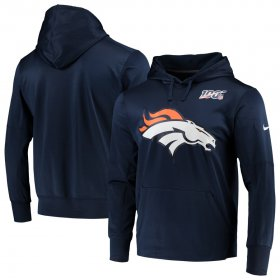 Wholesale Cheap Denver Broncos Nike NFL 100 Primary Logo Circuit Performance Pullover Hoodie Navy