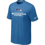 Wholesale Cheap Nike Seattle Seahawks Critical Victory NFL T-Shirt Light Blue