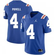 Wholesale Cheap Florida Gators 4 Brandon Powell Blue Throwback College Football Jersey