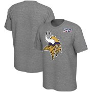 Wholesale Cheap Minnesota Vikings Nike Primary Logo Legend NFL 100 Performance T-Shirt Heathered Gray