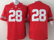 Wholesale Cheap Ohio State Buckeyes #28 Dominic Clarke 2014 Red Limited Jersey