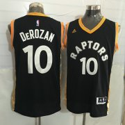 Wholesale Cheap Men's Toronto Raptors #10 DeMar DeRozan Black With Gold New NBA Rev 30 Swingman Jersey