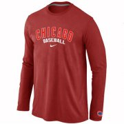 Wholesale Cheap Chicago Cubs Long Sleeve MLB T-Shirt Red