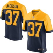 Wholesale Cheap Nike Packers #37 Josh Jackson Navy Blue Alternate Men's Stitched NFL New Elite Jersey