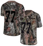 Wholesale Cheap Nike Jets #77 Mekhi Becton Camo Youth Stitched NFL Limited Rush Realtree Jersey