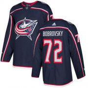 Wholesale Cheap Adidas Blue Jackets #72 Sergei Bobrovsky Navy Blue Home Authentic Stitched Youth NHL Jersey
