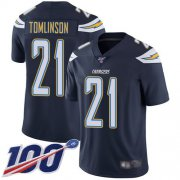 Wholesale Cheap Nike Chargers #21 LaDainian Tomlinson Navy Blue Team Color Men's Stitched NFL 100th Season Vapor Limited Jersey