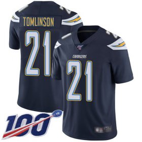 Wholesale Cheap Nike Chargers #21 LaDainian Tomlinson Navy Blue Team Color Men\'s Stitched NFL 100th Season Vapor Limited Jersey
