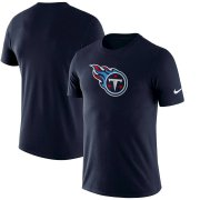 Wholesale Cheap Tennessee Titans Nike Essential Logo Dri-FIT Cotton T-Shirt Navy