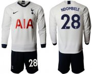 Wholesale Cheap Tottenham Hotspur #28 Ndombele Home Long Sleeves Soccer Club Jersey