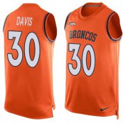 Wholesale Cheap Nike Broncos #30 Terrell Davis Orange Team Color Men's Stitched NFL Limited Tank Top Jersey