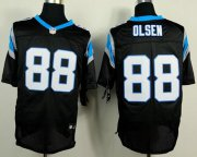 Wholesale Nike Panthers #88 Greg Olsen Black Team Color Men's Stitched NFL Elite Jersey
