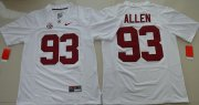 Wholesale Cheap Men's Alabama Crimson Tide #93 Jonathan Allen White Limited Stitched College Football Nike NCAA Jersey
