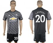 Wholesale Cheap Manchester United #20 S.Romero Black Soccer Club Jersey