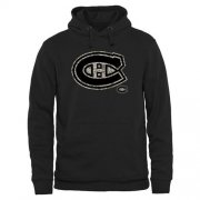 Wholesale Cheap Men's Montreal Canadiens Black Rink Warrior Pullover Hoodie