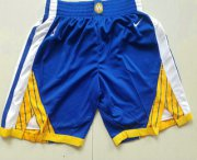 Wholesale Cheap Men's Golden State Warriors Blue 2017-2018 Nike Authentic Stitched NBA Shorts