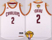 Wholesale Cheap Men's Cleveland Cavaliers #2 Kyrie Irving 2015 The Finals New White Jersey