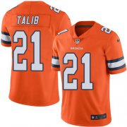 Wholesale Cheap Nike Broncos #21 Aqib Talib Orange Men's Stitched NFL Limited Rush Jersey