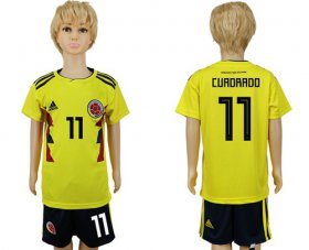 Wholesale Cheap Colombia #11 Cuadrado Home Kid Soccer Country Jersey