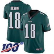 Wholesale Cheap Nike Eagles #18 Jalen Reagor Green Team Color Men's Stitched NFL 100th Season Vapor Untouchable Limited Jersey