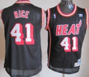 Wholesale Cheap Miami Heat #41 Glen Rice Black Swingman Throwback Jersey