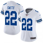Wholesale Cheap Nike Cowboys #22 Emmitt Smith White Women's Stitched NFL Vapor Untouchable Limited Jersey