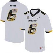 Wholesale Cheap Missouri Tigers 6 J'Mon Moore White Nike Fashion College Football Jersey