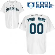 Wholesale Cheap Mariners Customized Authentic White Cool Base MLB Jersey (S-3XL)
