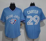 Wholesale Cheap Blue Jays #29 Joe Carter Light Blue Cooperstown Throwback Stitched MLB Jersey