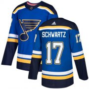 Wholesale Cheap Adidas Blues #17 Jaden Schwartz Blue Home Authentic Stitched Youth NHL Jersey