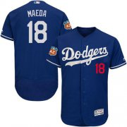 Wholesale Cheap Dodgers #18 Kenta Maeda Blue Flexbase Authentic Collection Stitched MLB Jersey