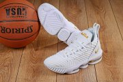 Wholesale Cheap Nike Lebron James 16 Air Cushion Shoes White Gold