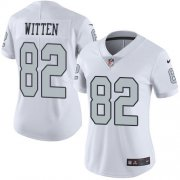 Wholesale Cheap Nike Raiders #82 Jason Witten White Women's Stitched NFL Limited Rush Jersey