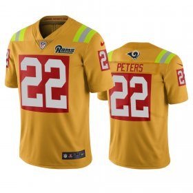 Wholesale Cheap Los Angeles Rams #22 Marcus Peters Gold Vapor Limited City Edition NFL Jersey