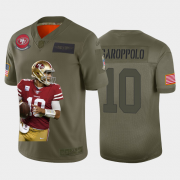Cheap San Francisco 49ers #10 Jimmy Garoppolo Nike Team Hero Vapor Limited NFL Jersey Camo