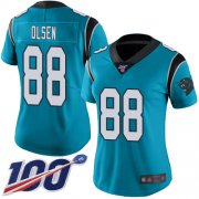 Wholesale Cheap Nike Panthers #88 Greg Olsen Blue Women's Stitched NFL Limited Rush 100th Season Jersey