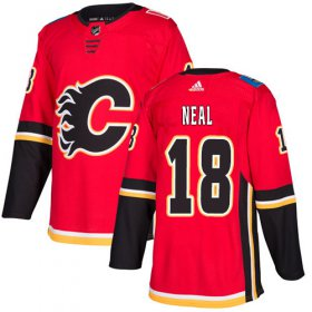 Wholesale Cheap Adidas Flames #18 James Neal Red Home Authentic Stitched Youth NHL Jersey