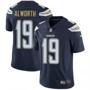 Wholesale Cheap Nike Chargers #19 Lance Alworth Navy Blue Team Color Men's Stitched NFL Vapor Untouchable Limited Jersey