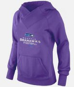 Wholesale Cheap Women's Seattle Seahawks Big & Tall Critical Victory Pullover Hoodie Purple