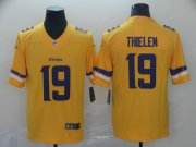 Wholesale Cheap Nike Vikings #19 Adam Thielen Gold Men's Stitched NFL Limited Inverted Legend Jersey