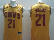 Wholesale Cheap Cleveland Cavaliers #21 Andrew Wiggins Yellow Swingman Jersey