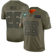 Wholesale Cheap Nike Jets #26 Le'Veon Bell Camo Men's Stitched NFL Limited 2019 Salute To Service Jersey